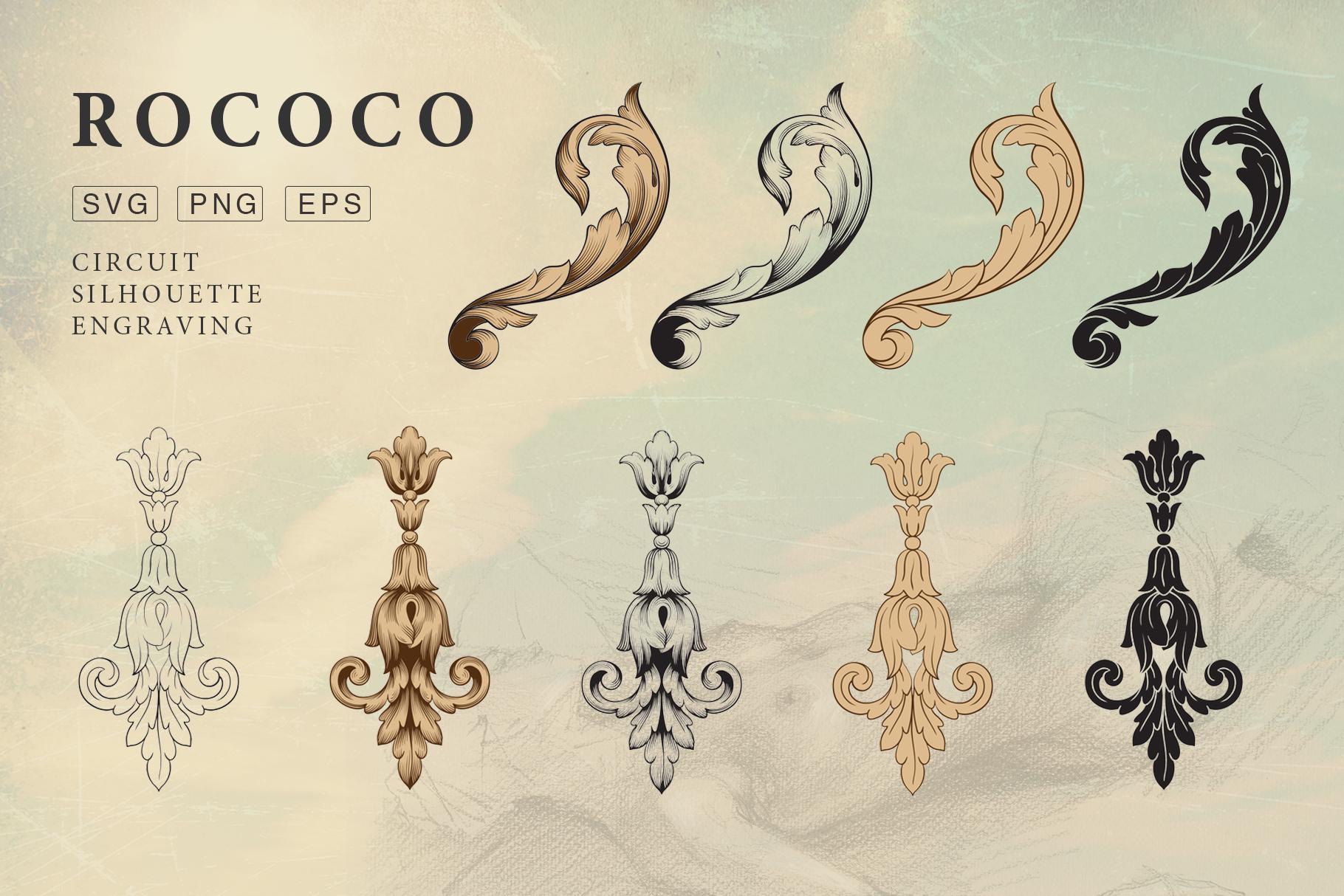 Rococo Romance Ornament page decor example image 6