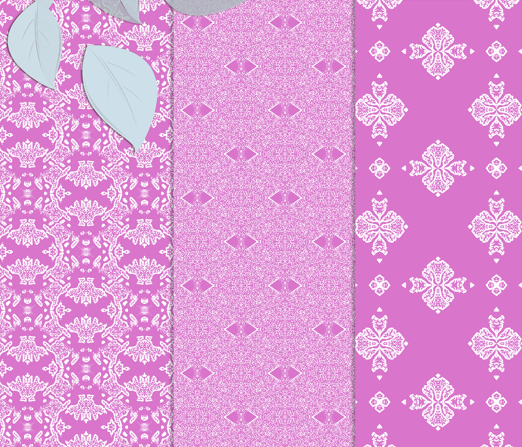 Pink, gentle, abstract and geometrical Scrapbook Paper example image 4