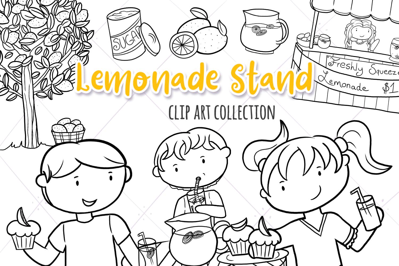 Lemonade Stand Digital Stamps example image 1