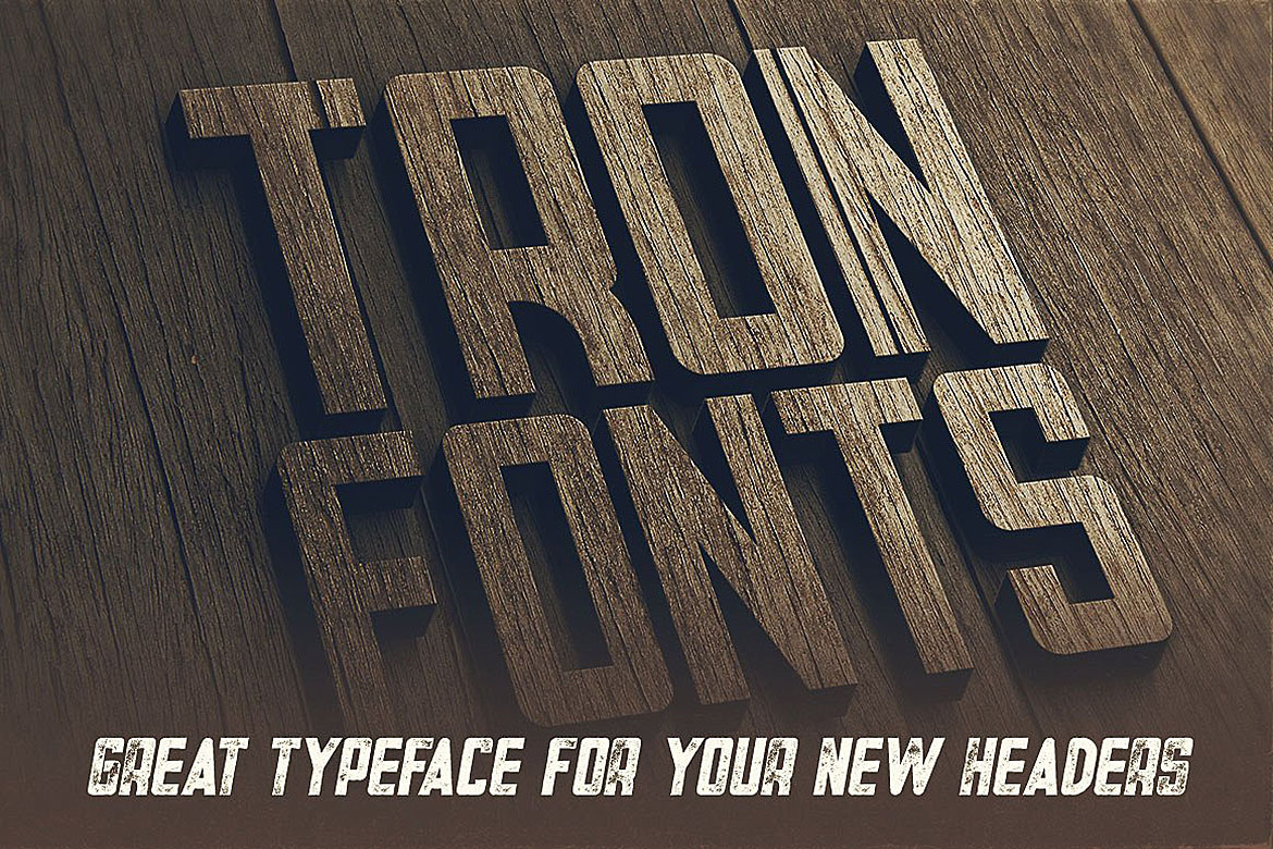Tron - Display Font example image 5