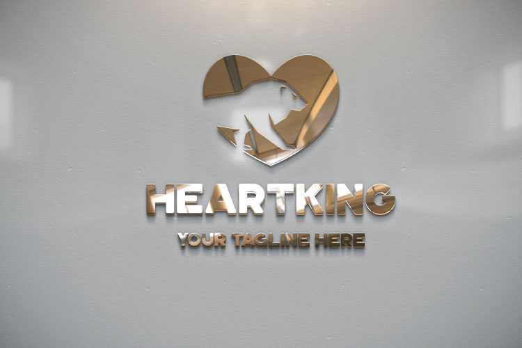 Lion Heart Shape Logo example image 2
