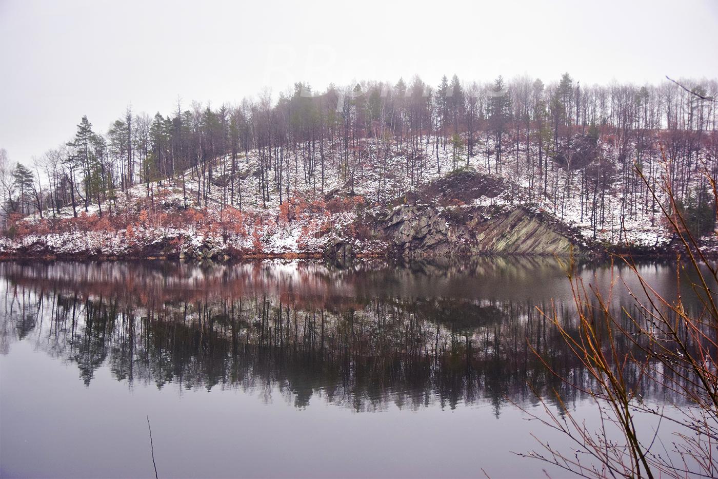 Nature photo, landscape photo, lake photo, winter photo example image 1