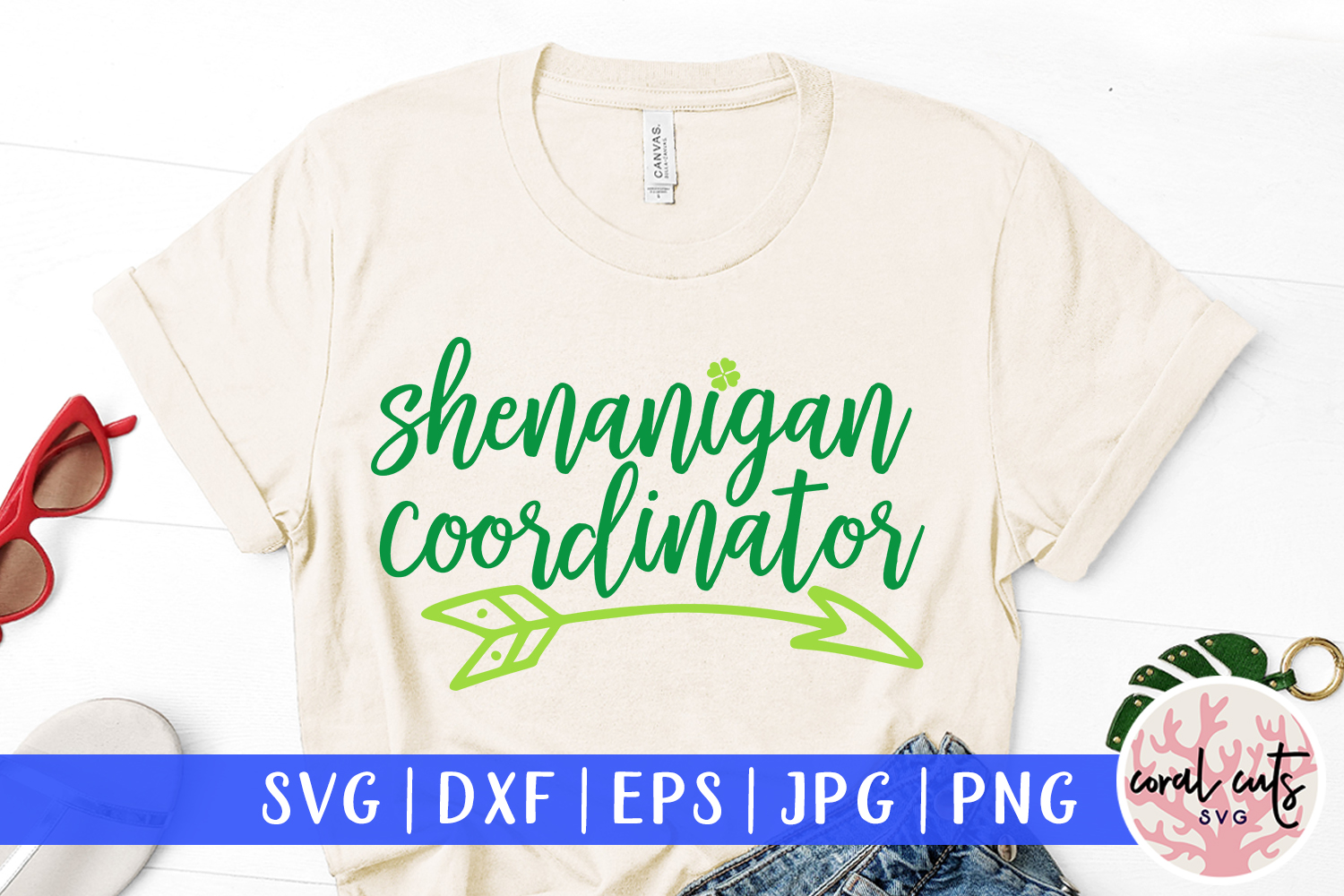 Shenanigan coordinator - St. Patrick's Day SVG EPS DXF PNG example image 1