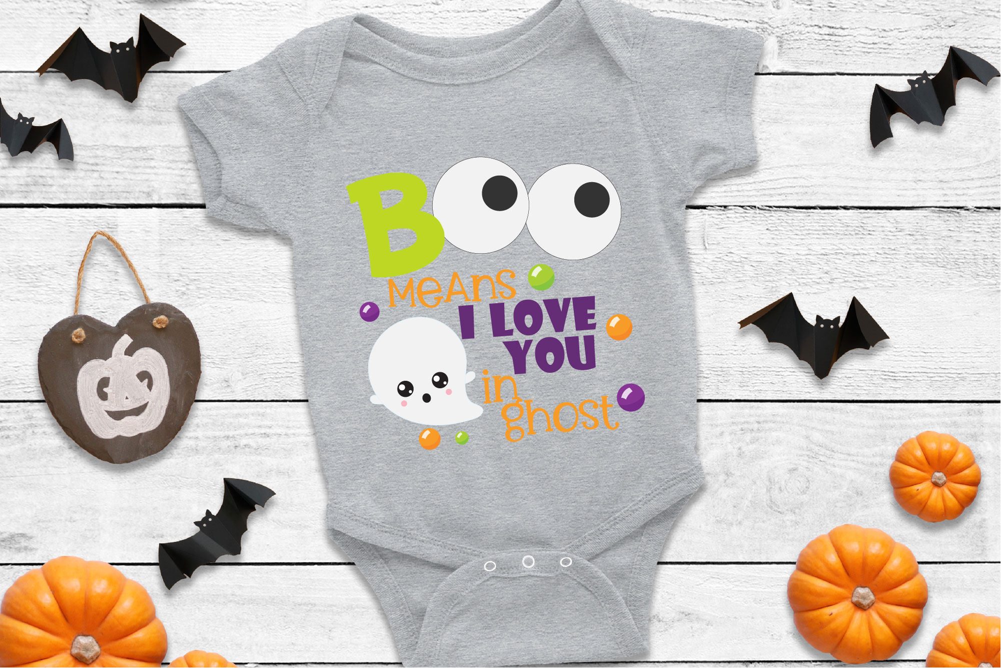 Boo Means I Love You In Ghost SVG Sublimation, Halloween SVG example image 1