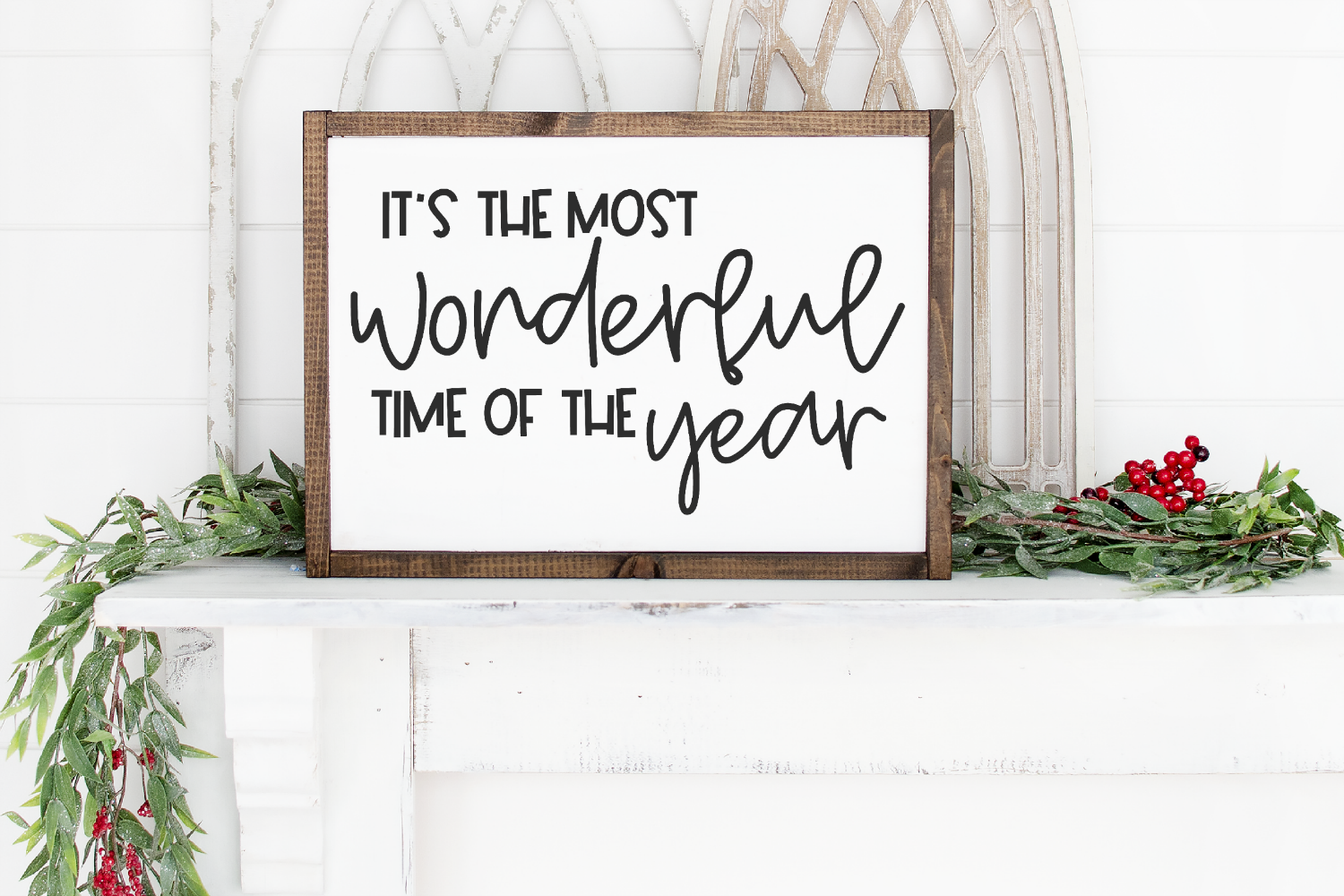 Christmas - It's The Most Wonderful Time Of The Year SVG example image 1