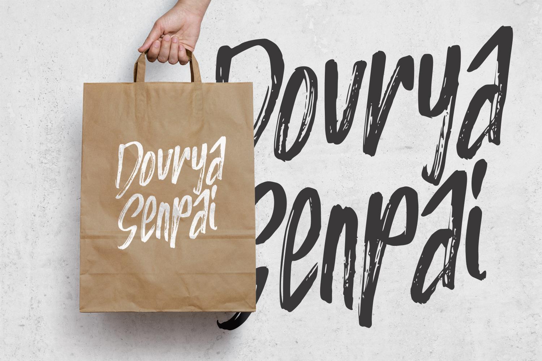 HIRUKA - Handbrushed Font example image 3