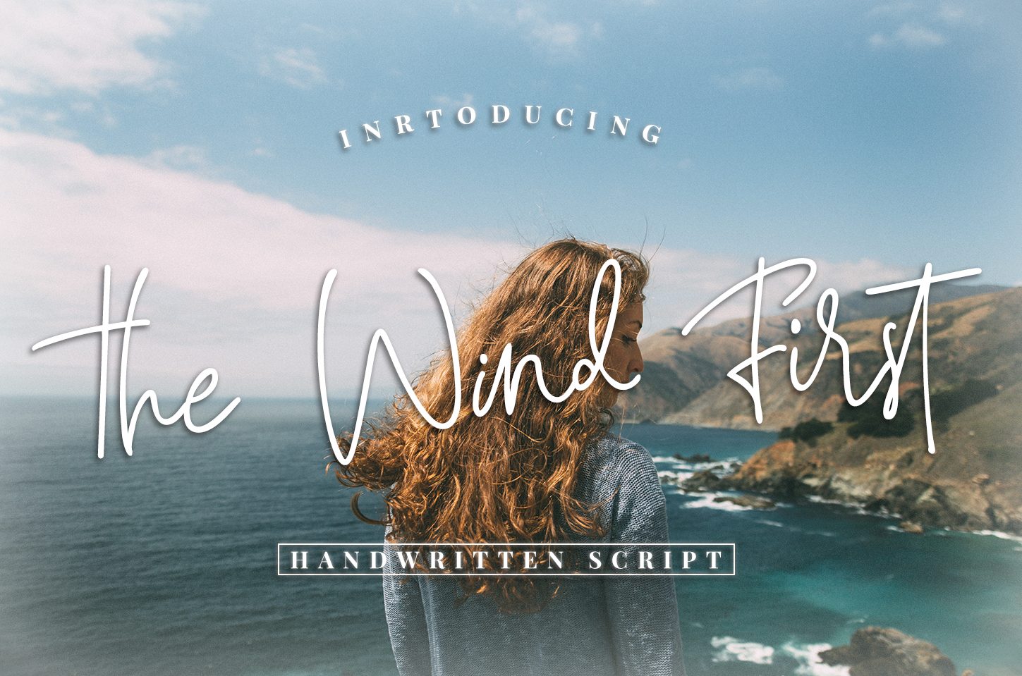 The Wind First - script font example image 1