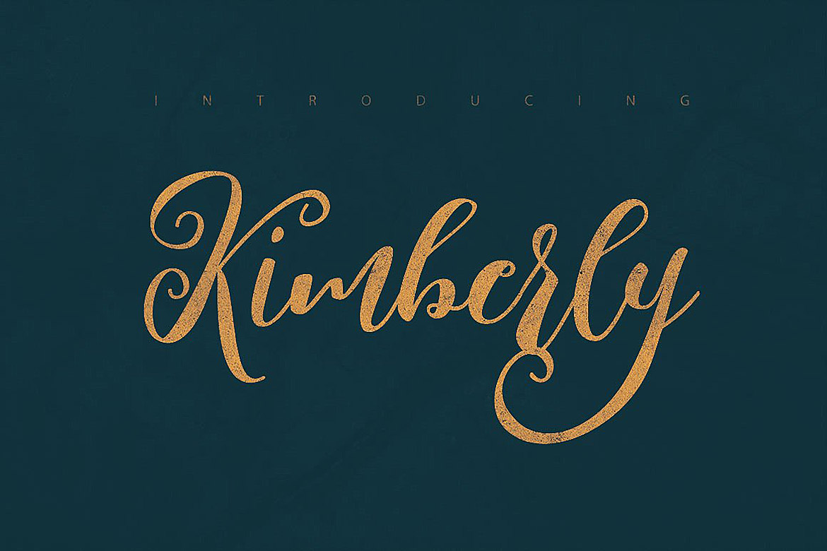 Kimberly Script Font example image 5