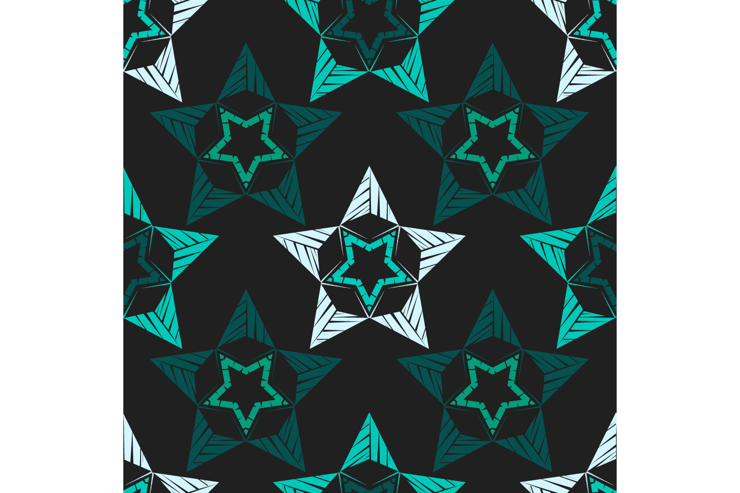 Ornament with Stars. Set of 10 seamless patterns. example image 2