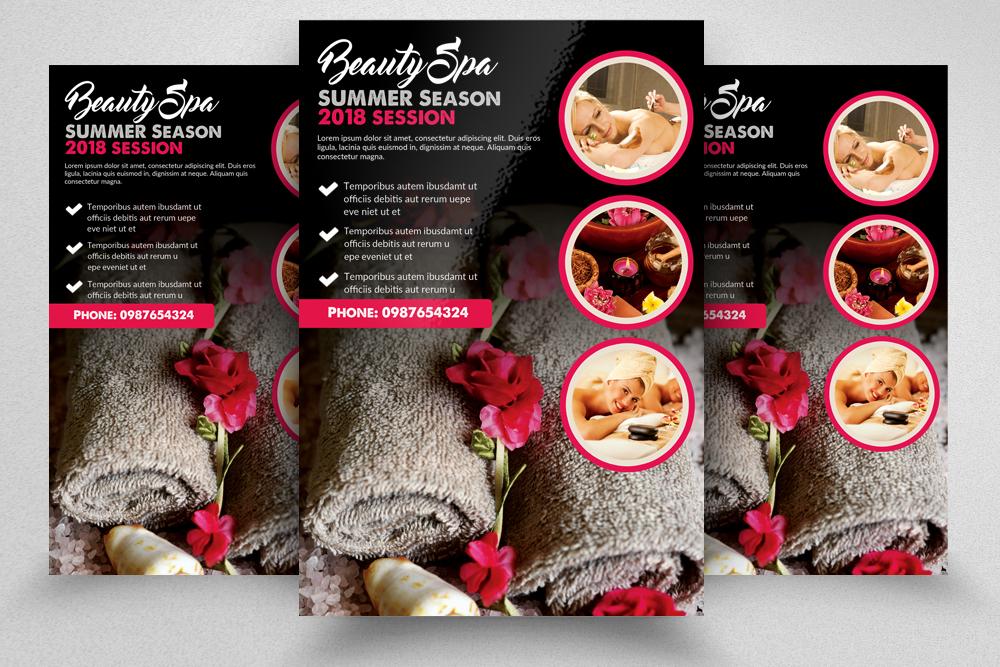 10 Spa & Skin Care Centre Flyer Bundle example image 3