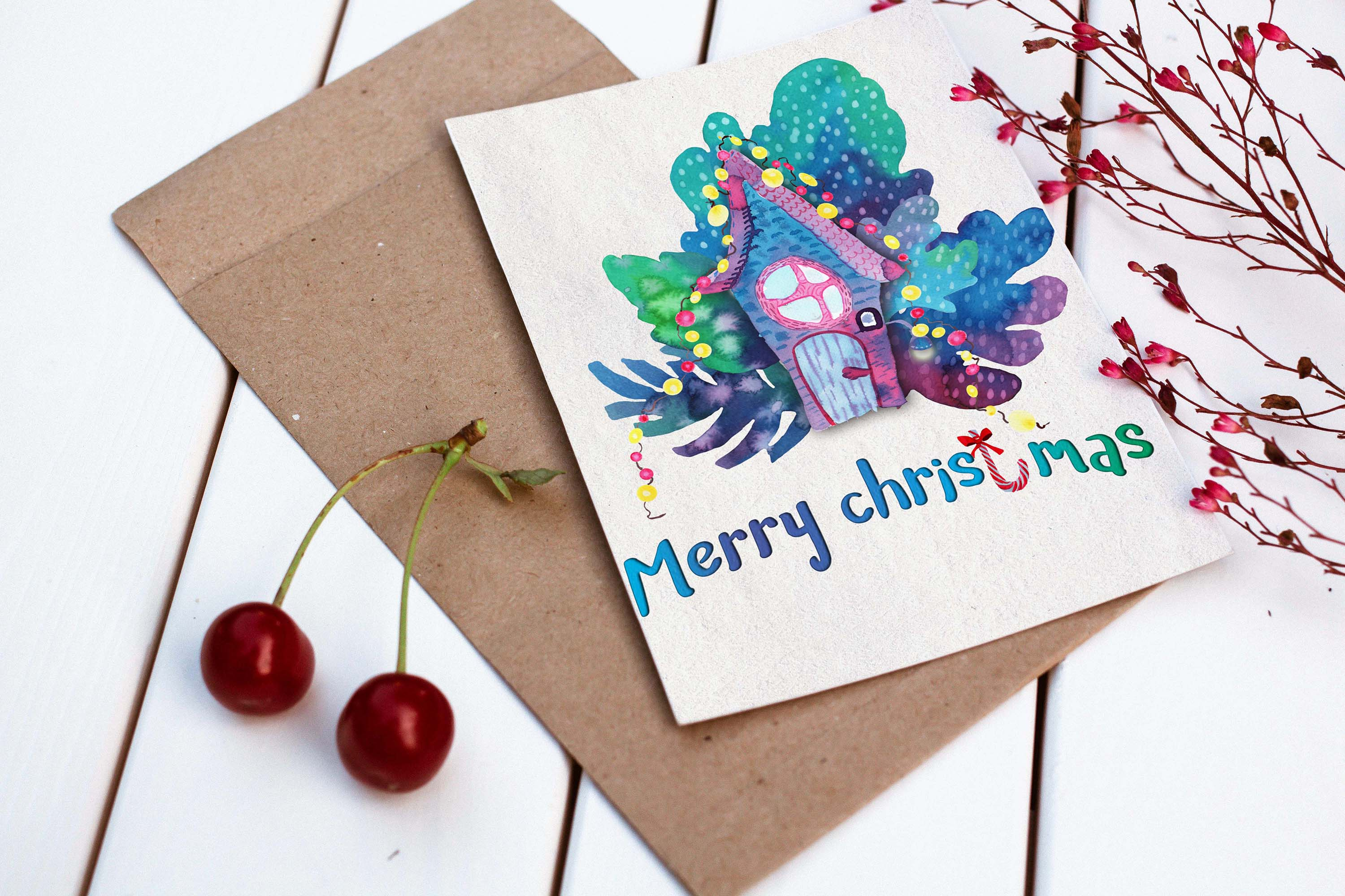 Christmas greeting cards example image 2