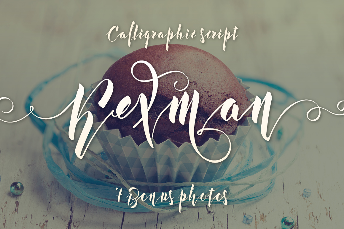 Kexman font + Cupcake photos example image 1