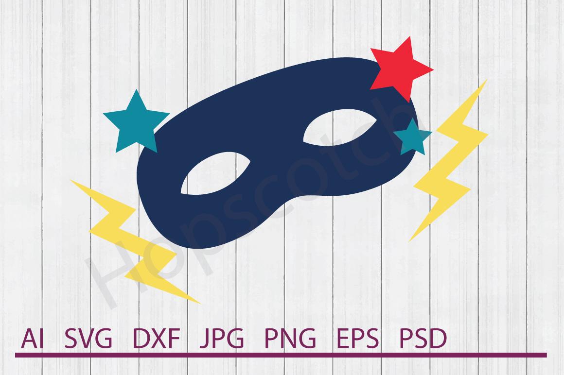 Mask SVG, Superhero Mask SVG, DXF File, Cuttable File example image 1
