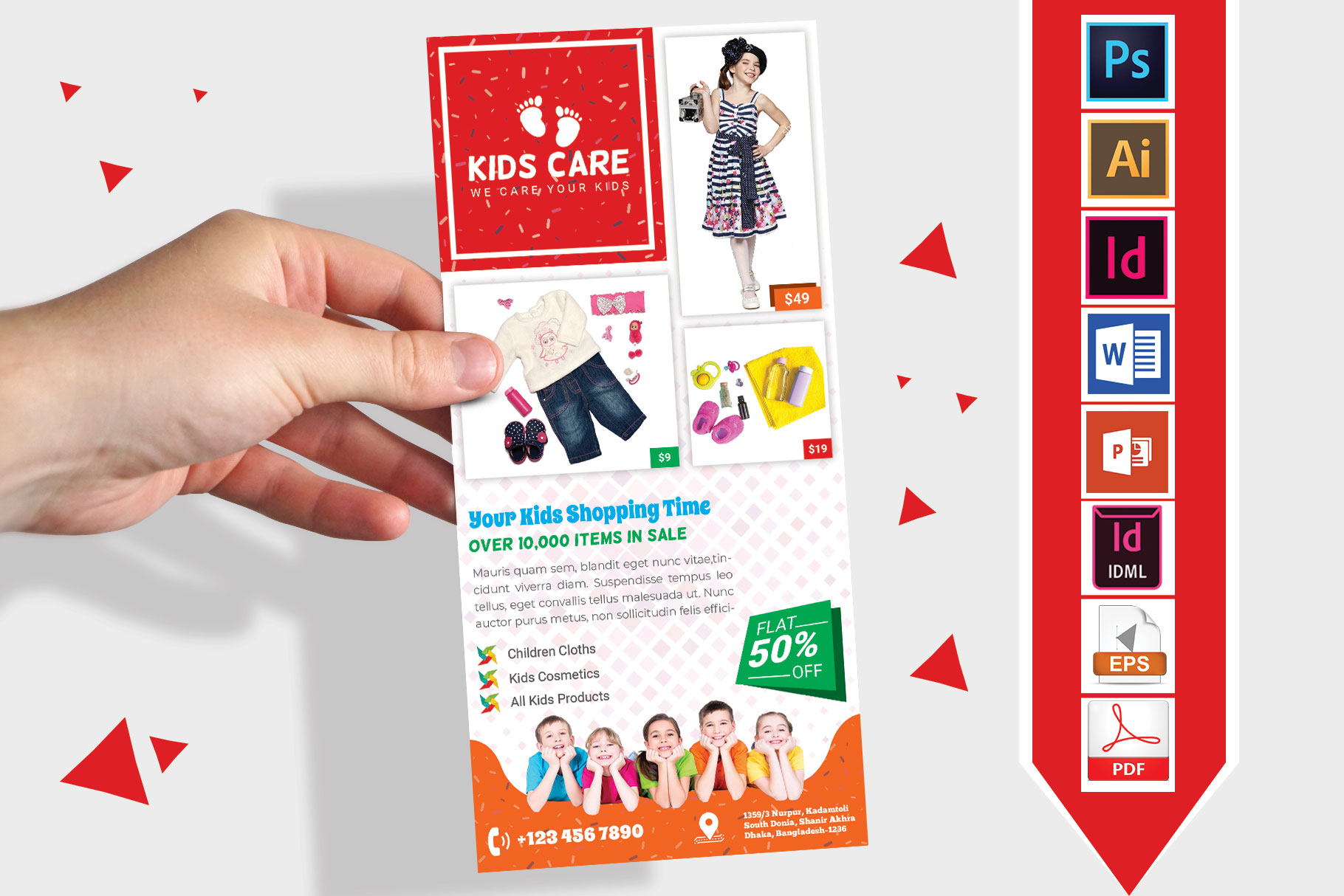 Rack Card | Kids Fashion DL Flyer Vol-03 example image 1