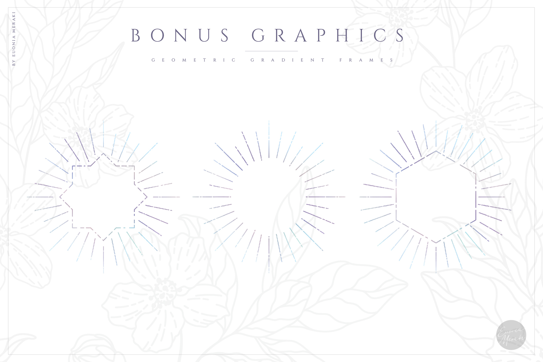 NACRE - monogram and floral graphic set example image 10