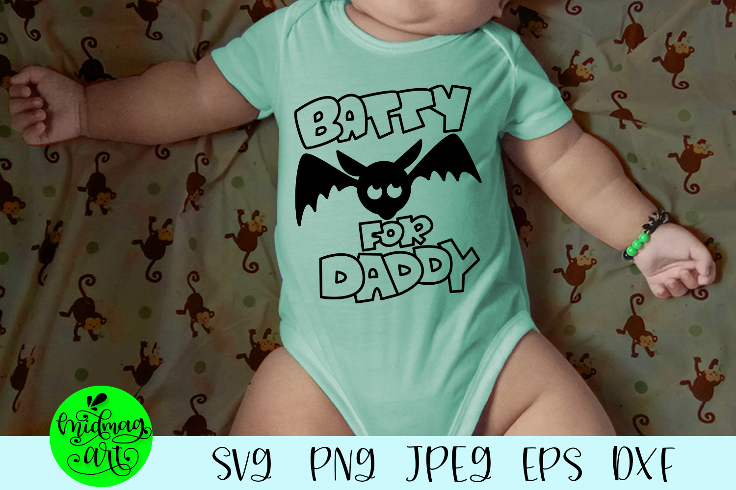 Batty for daddy svg, halloween svg example image 1