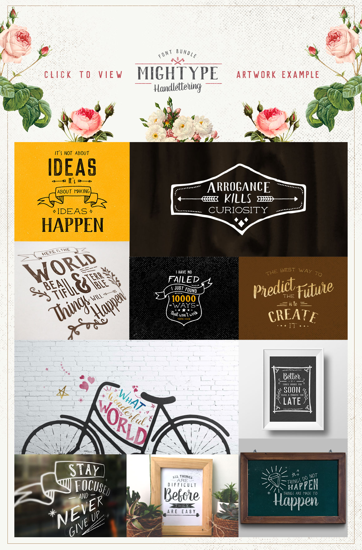 Mightype Handlettering Font Pack example image 5