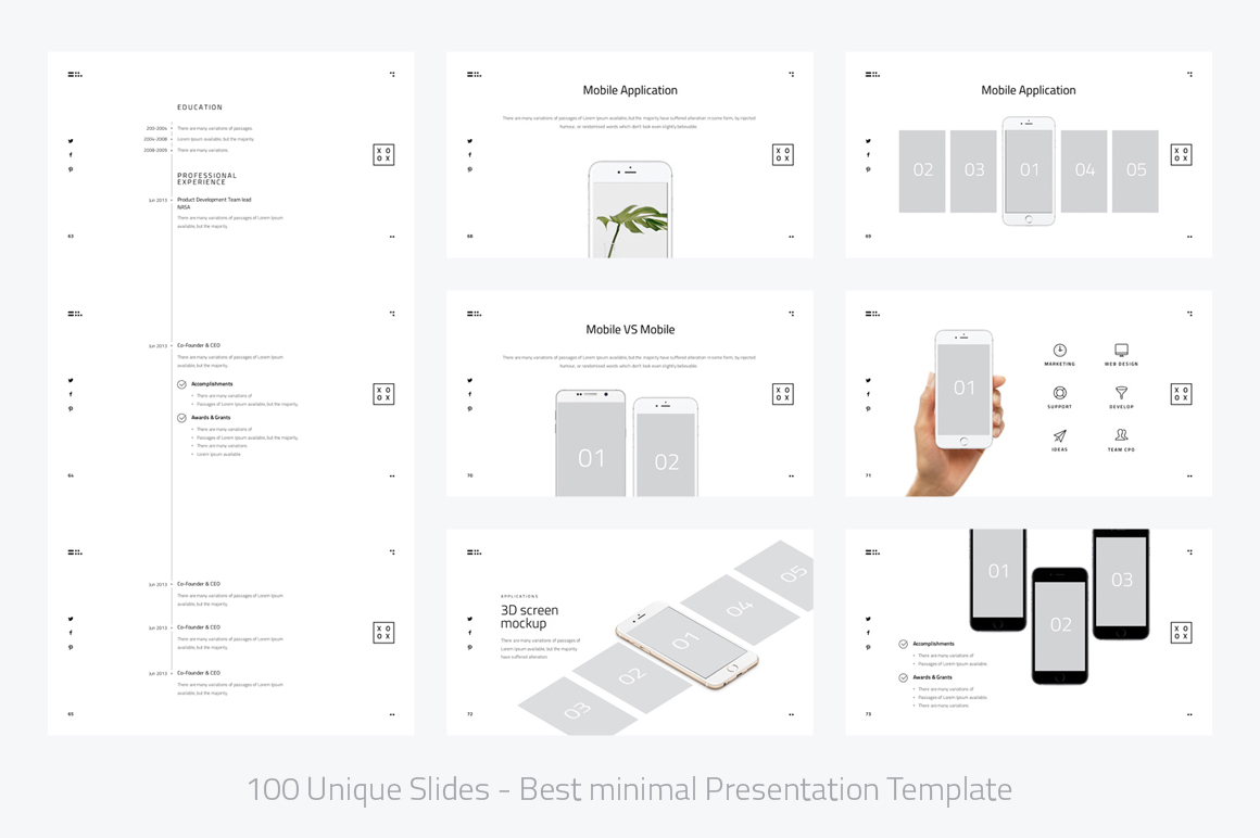 XOXO-Minimal Powerpoint Template example image 9