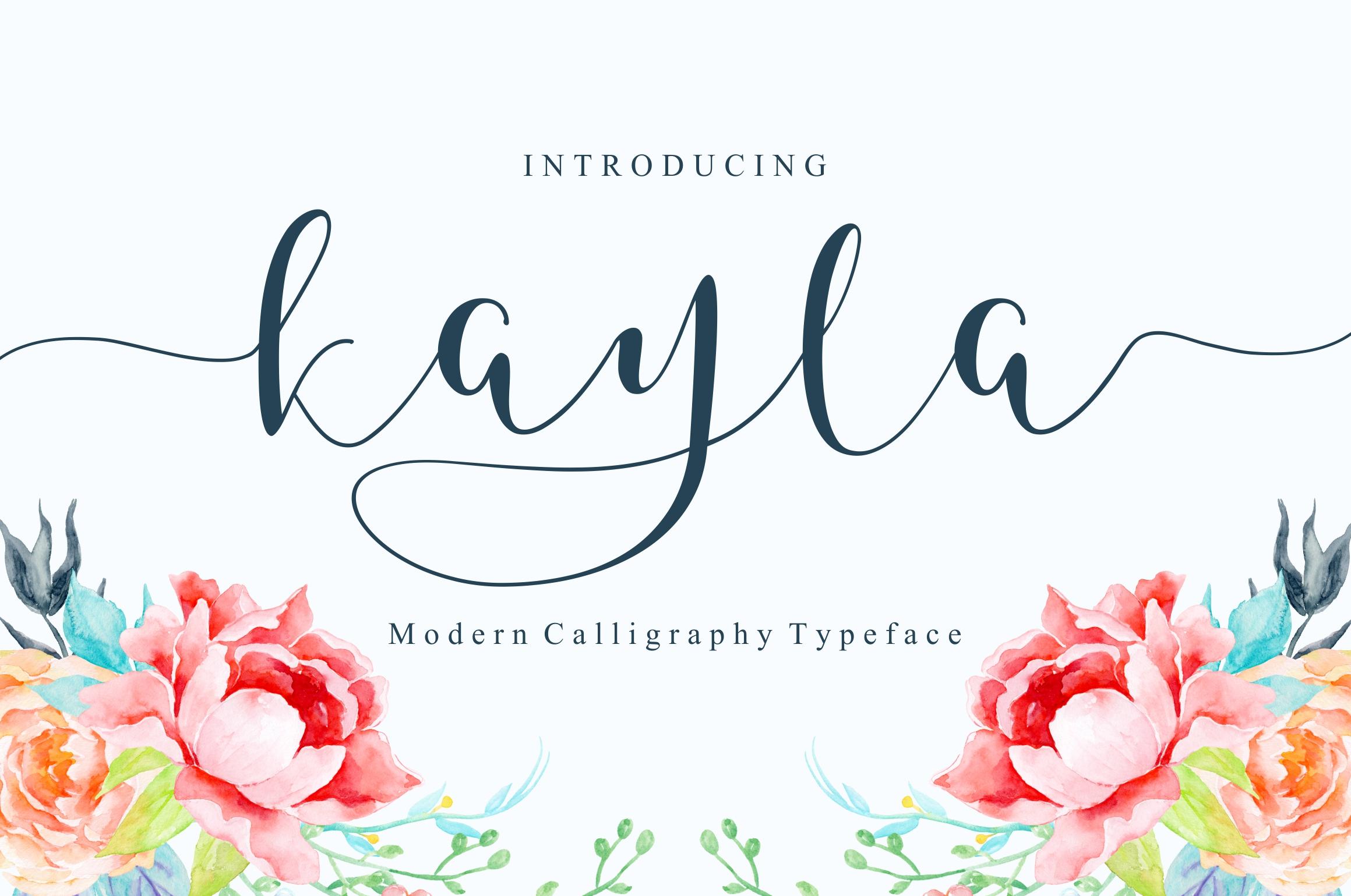 Kayla Script example image 1