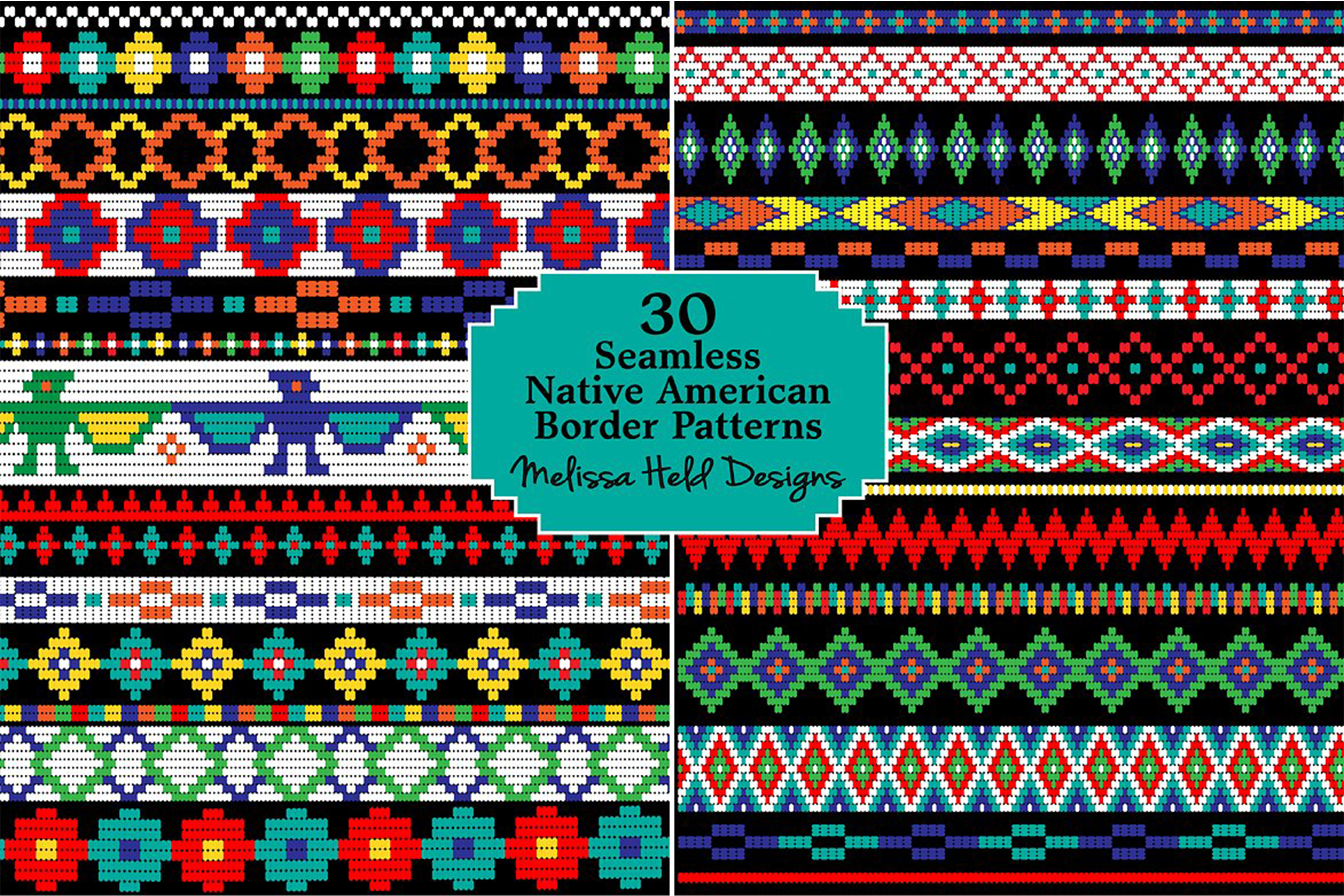 Native American Beaded Border Patterns example image 1