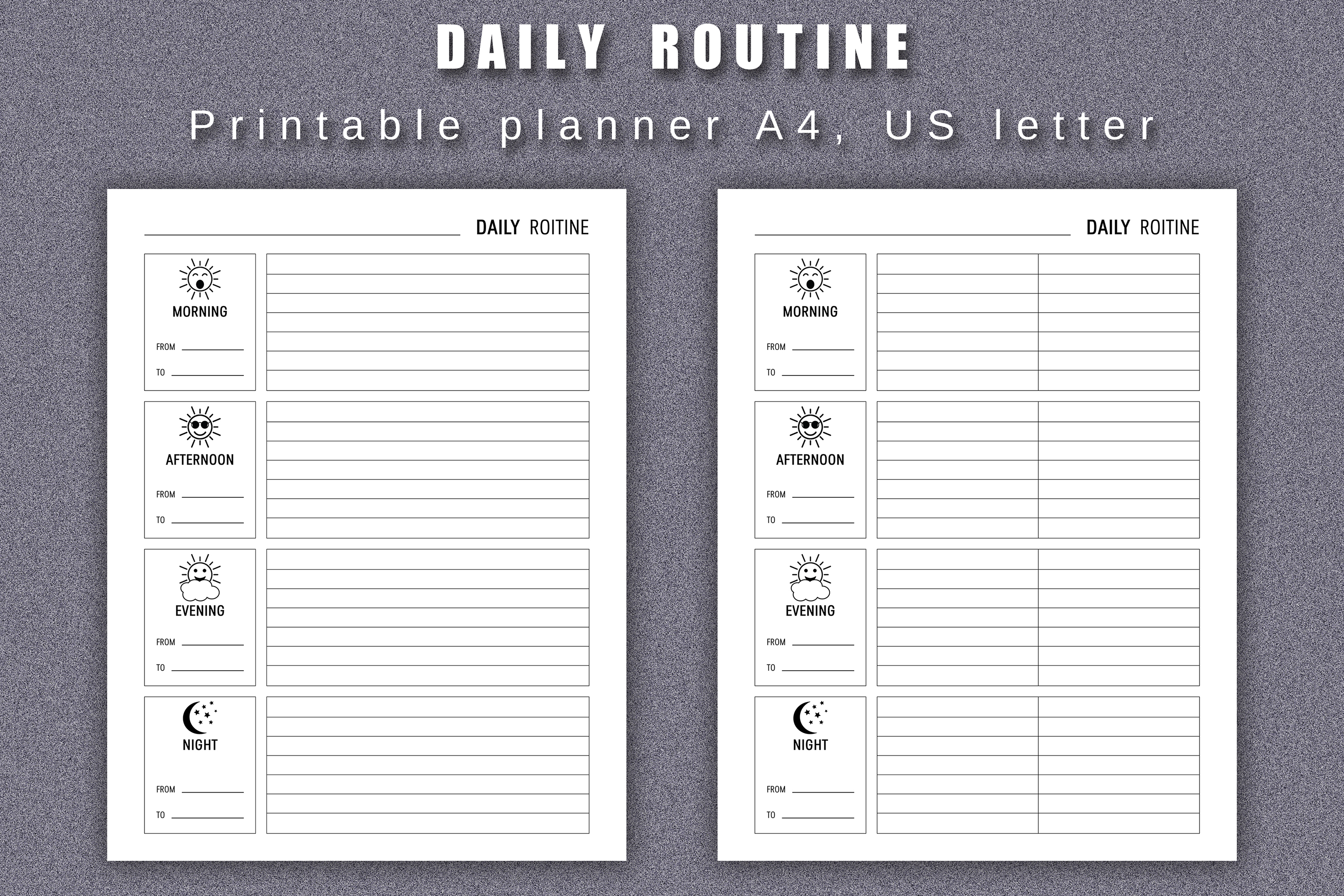Daily Routine Planner Printable example image 2