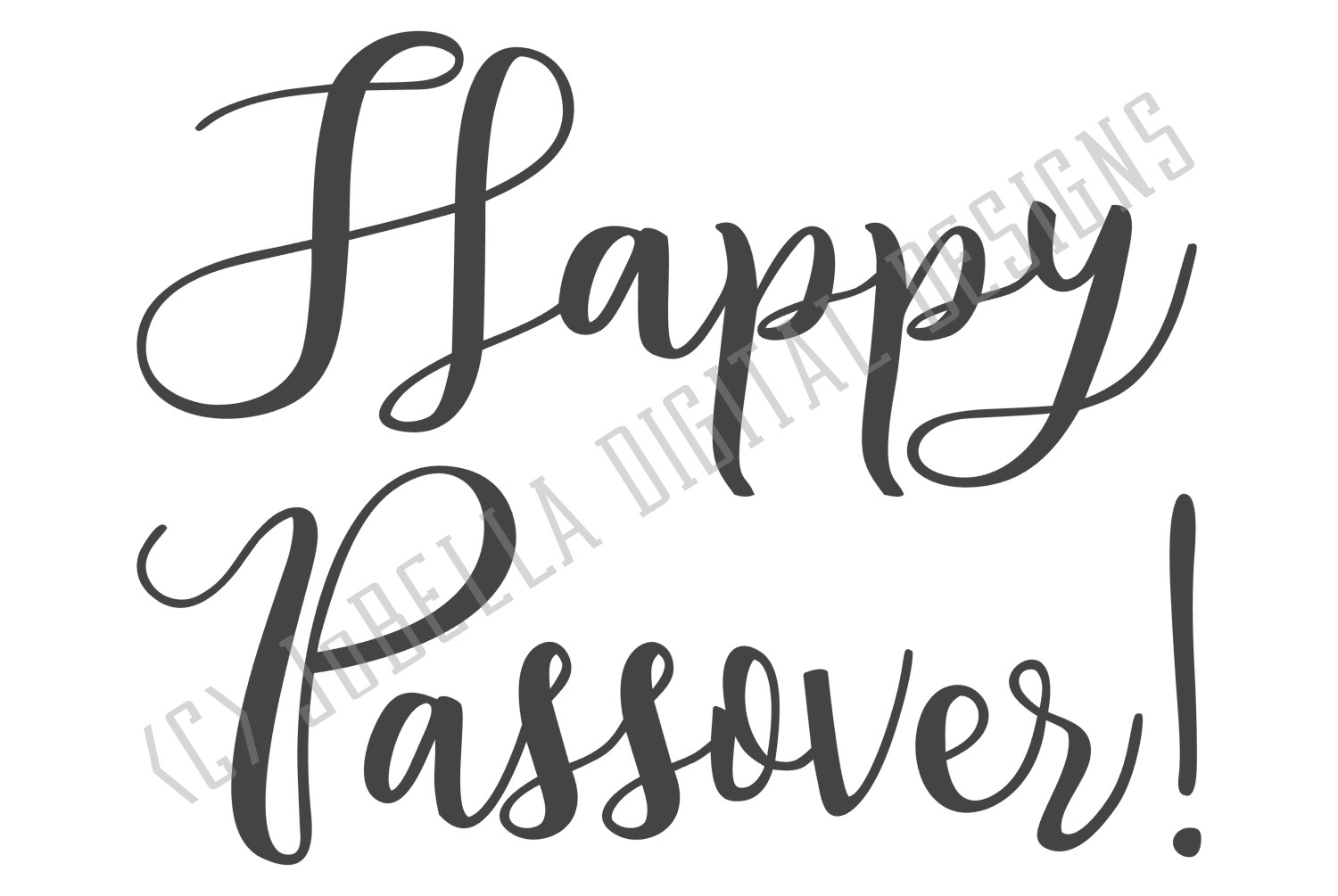 Happy Passover SVG and Printable Jewish Holiday Design example image 2
