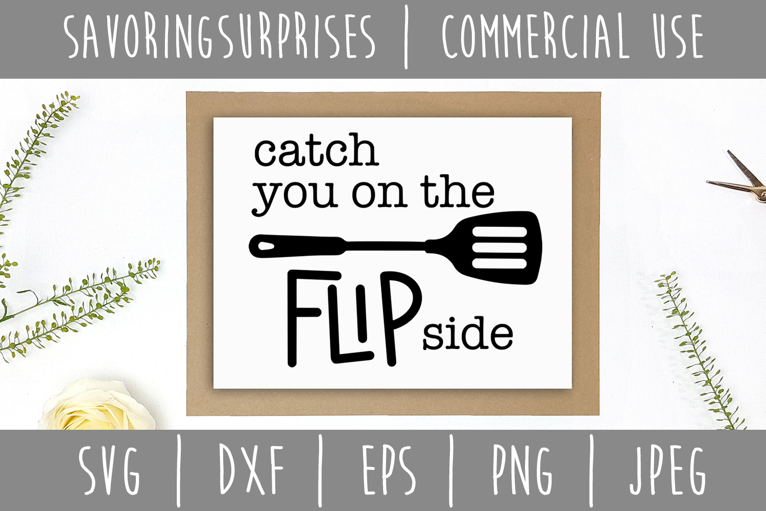 Catch You on the Flip Side SVG, DXF, EPS, PNG JPEG example image 2
