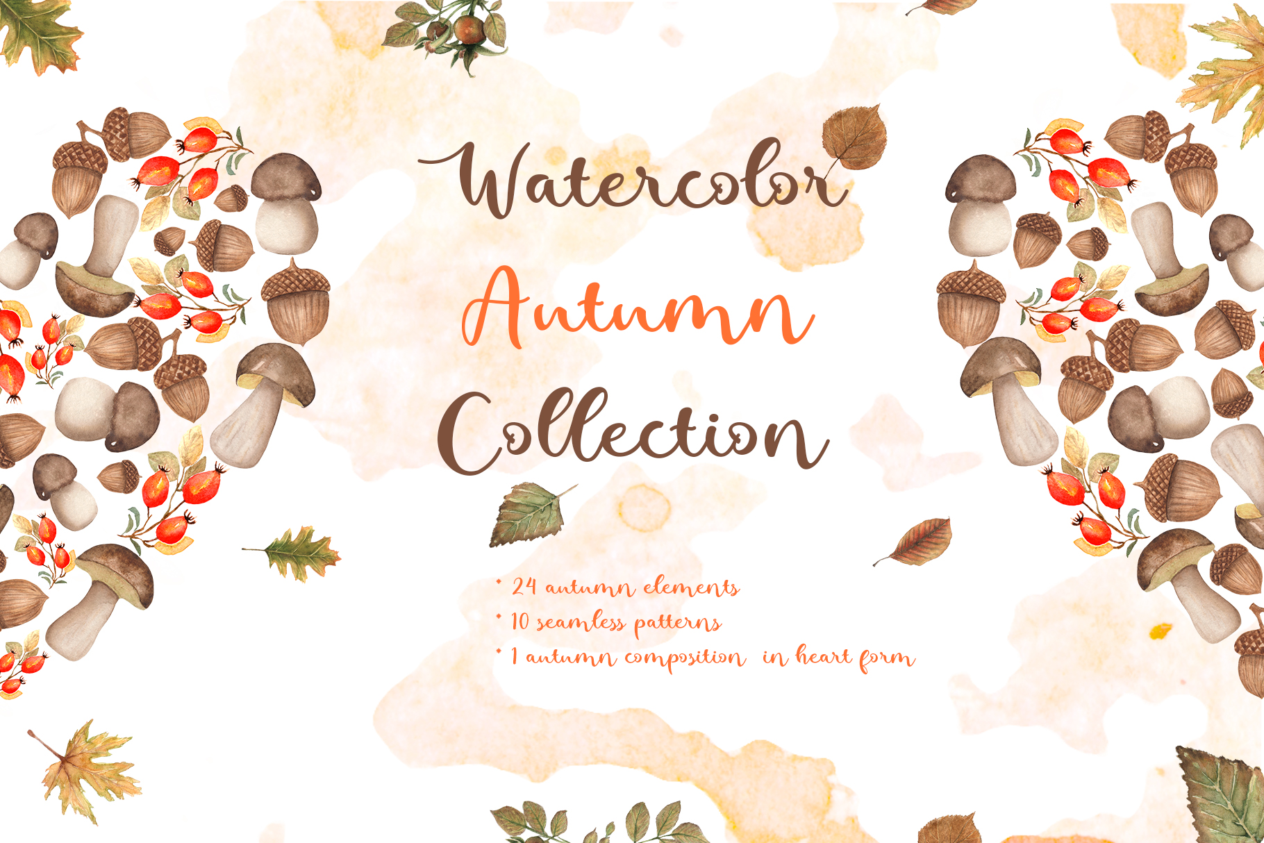 Watercolor Autumn Collection example image 1