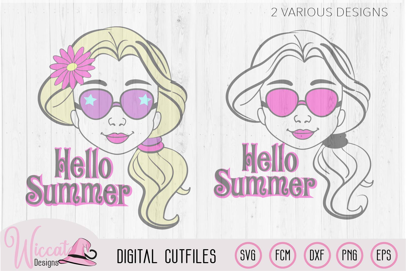 Summer girl, Cool girl, Hello summer, flower girl cut file example image 2