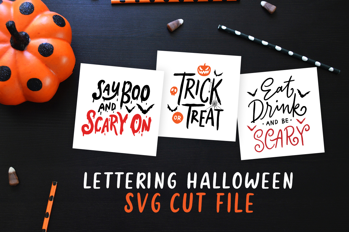 Lettering Halloween SVG Cut File example image 1