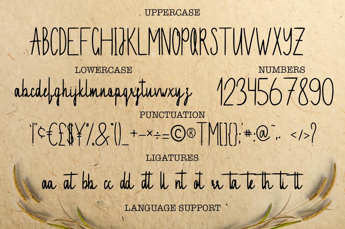 Invitation handwritten font example image 2