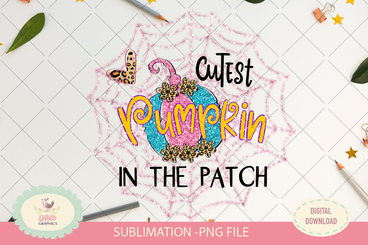 Cutest pumpkin in the patch, sublimation png, halloween example image 2