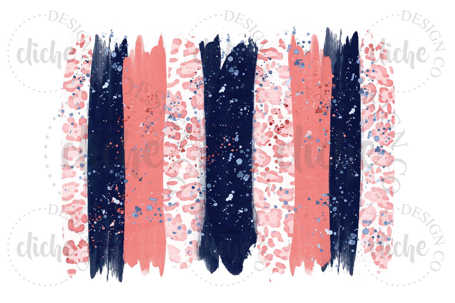 Paint Stroke Sublimation Design Background Bundle example image 7