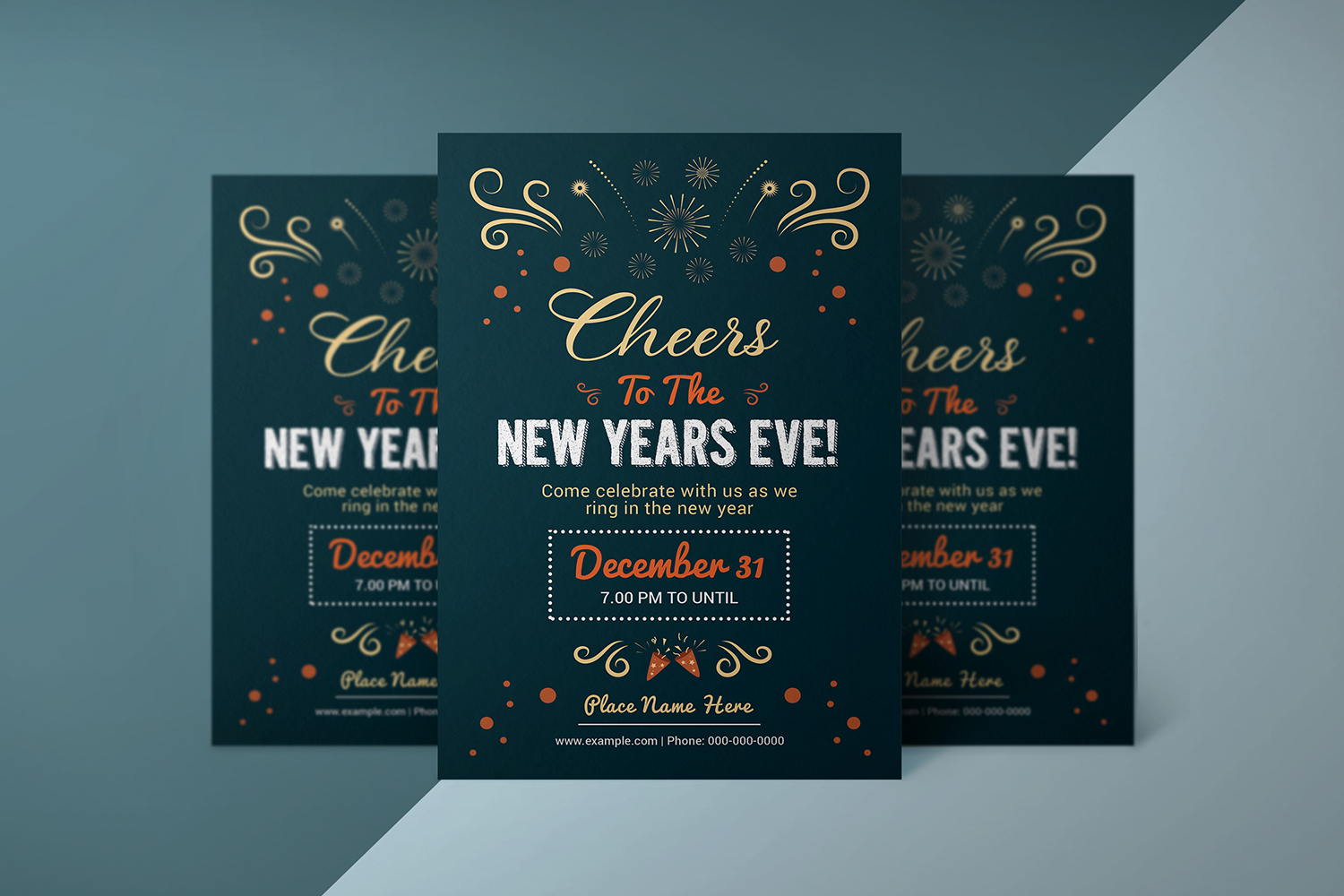 Printable New Year Party Flyer example image 4