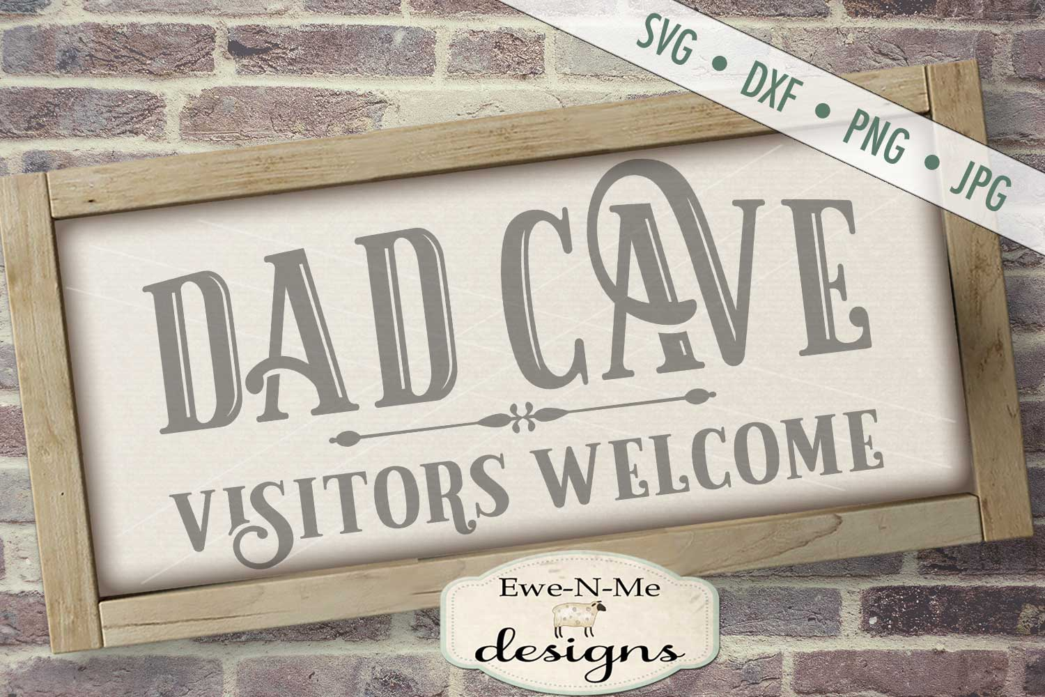 Dad Cave Father's Day SVG DXF Cut File example image 1