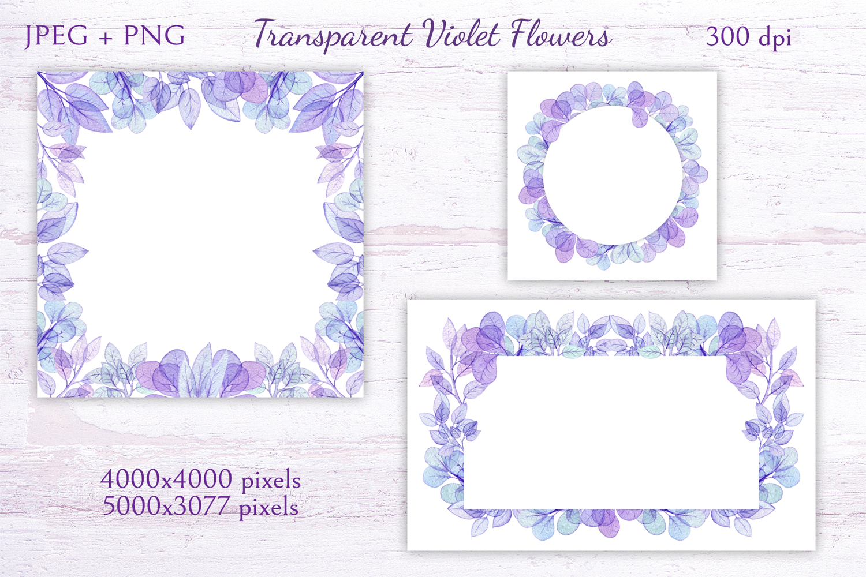 Transparent Violet Flowers example image 4