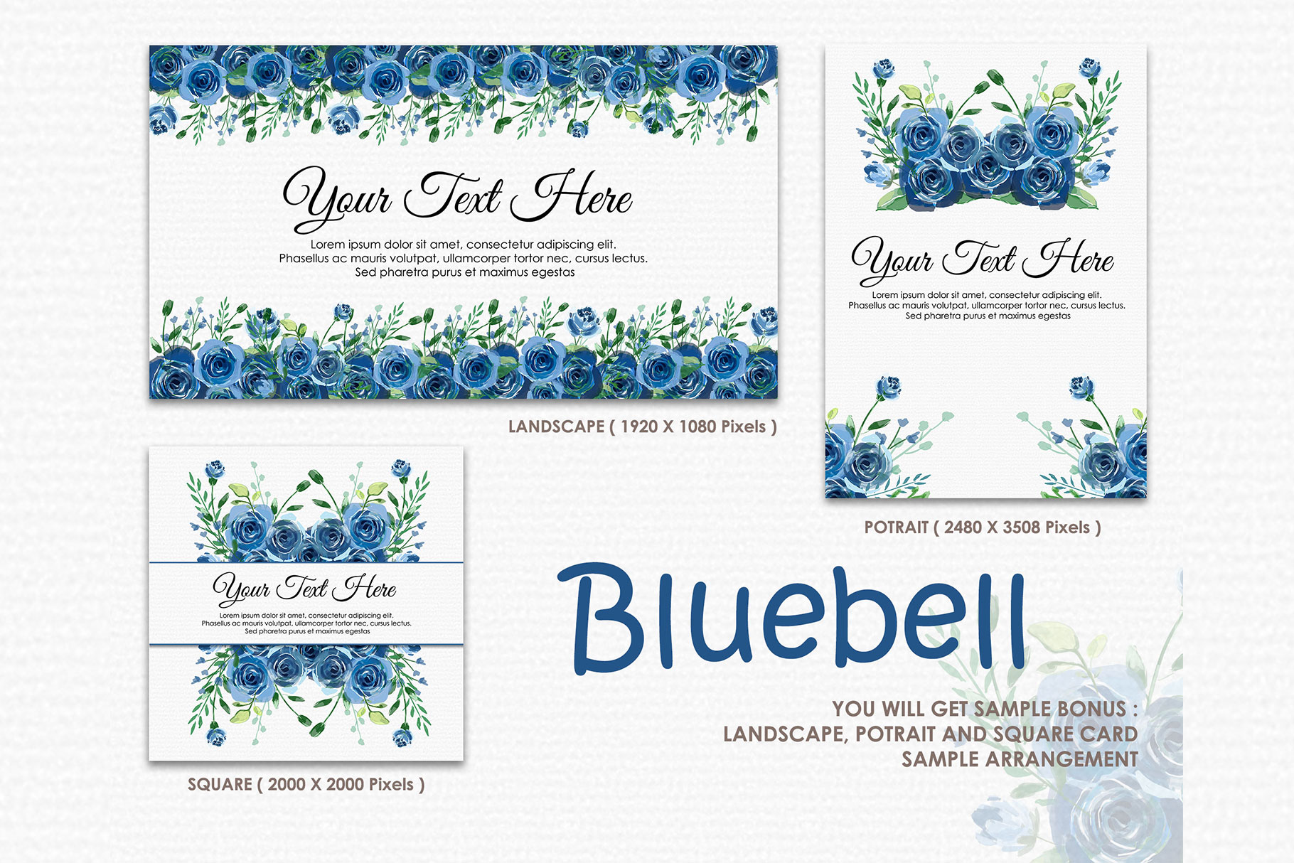 Bluebell - Digital Watercolor Floral Flower Style Clipart example image 4