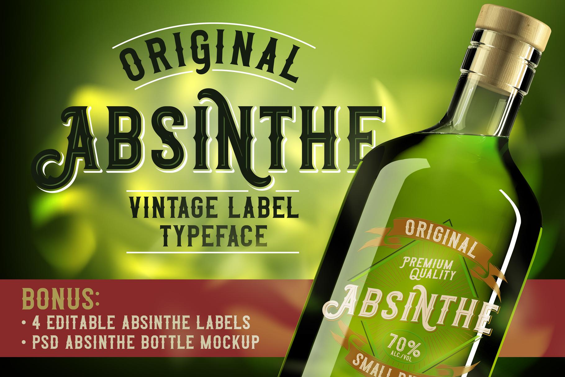 Original Absinthe Layered Font example image 1