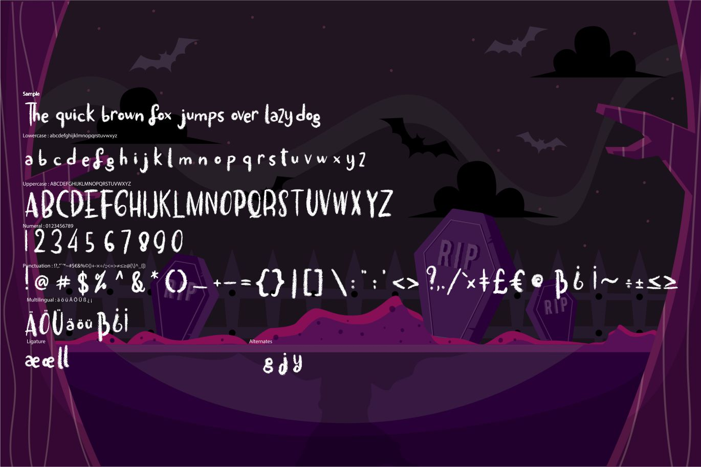 The baleak | Decorative Horror Font example image 6