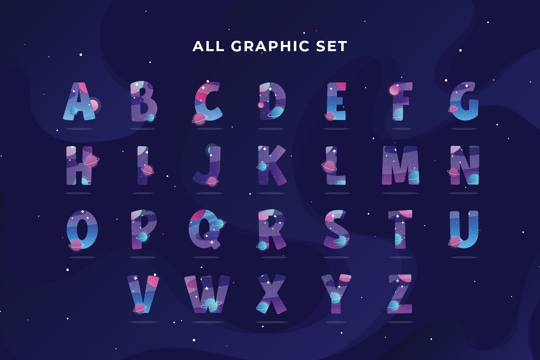 Galaxy Alphabet set example image 4