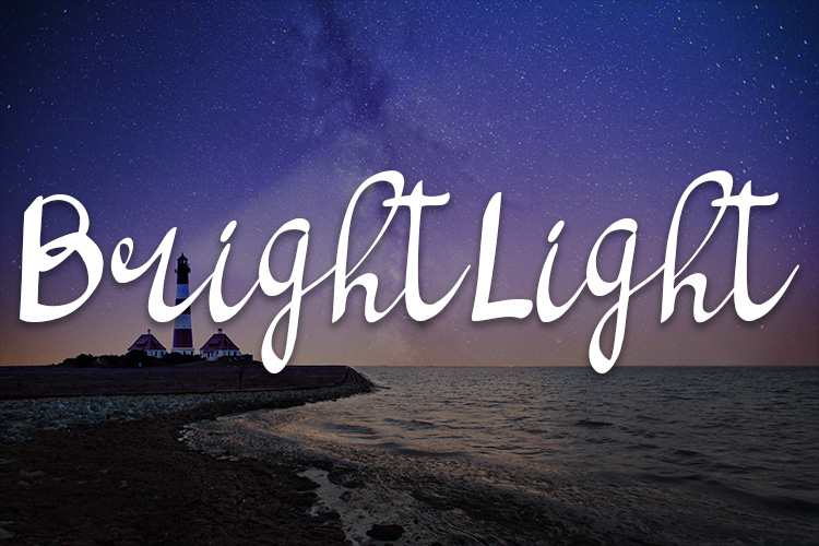 bright light script handwritten font example image 1