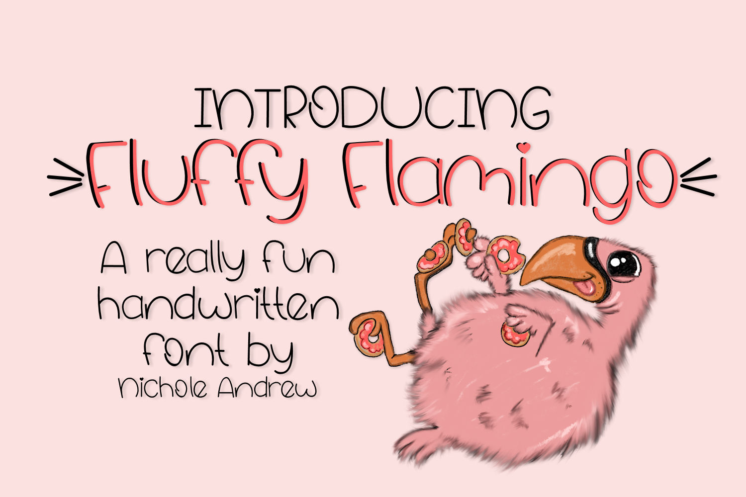 Fluffy Flamingo, A Fun Handwritten Font example image 1