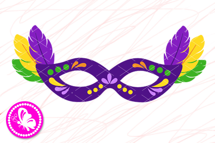 Mardi Gras mask png New Orleans Carnival decor Fat tuesday example image 1