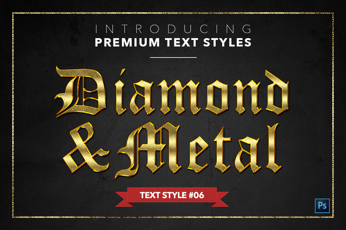 Diamond & Metal #1 - 15 Text Styles example image 7