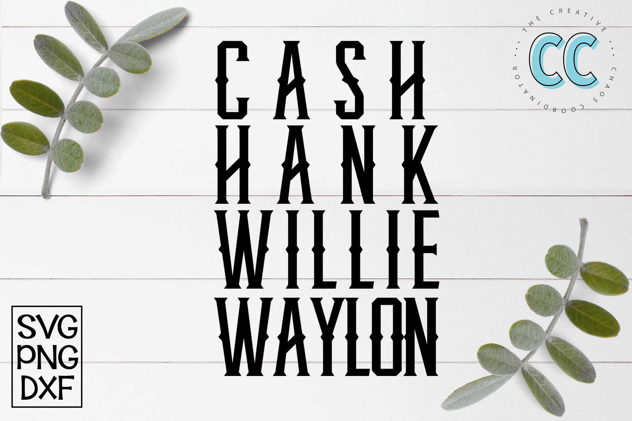 Cash, Hank, Willie, Waylon example image 1