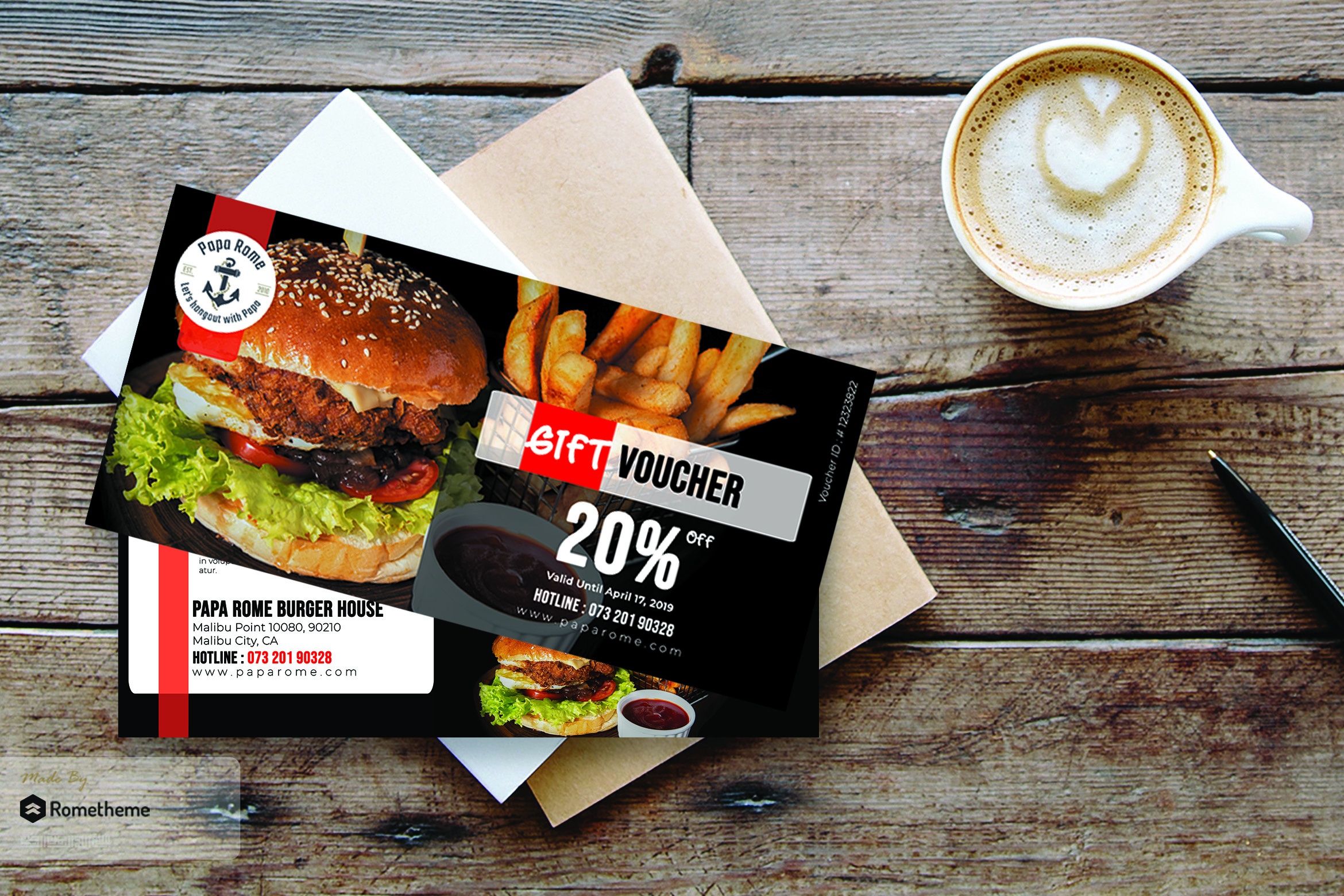 Food Gift Voucher Card vol. 01 example image 1