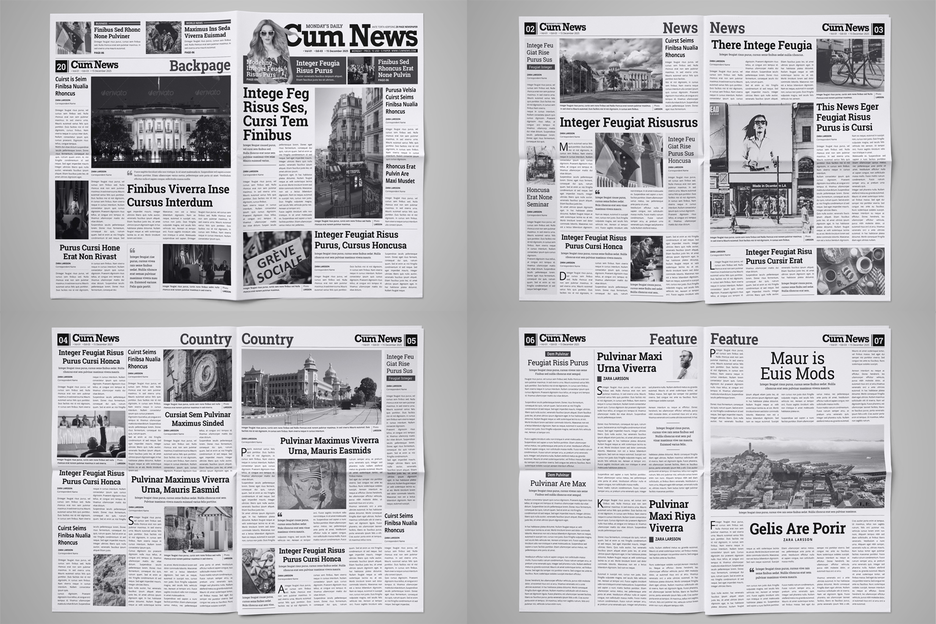 Newspaper Design Bundle - 3 in One example image 9