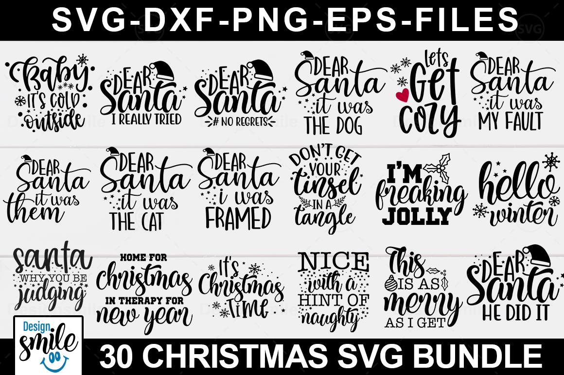 Big Christmas Bundle svg - Christmas svg - Cut File example image 2