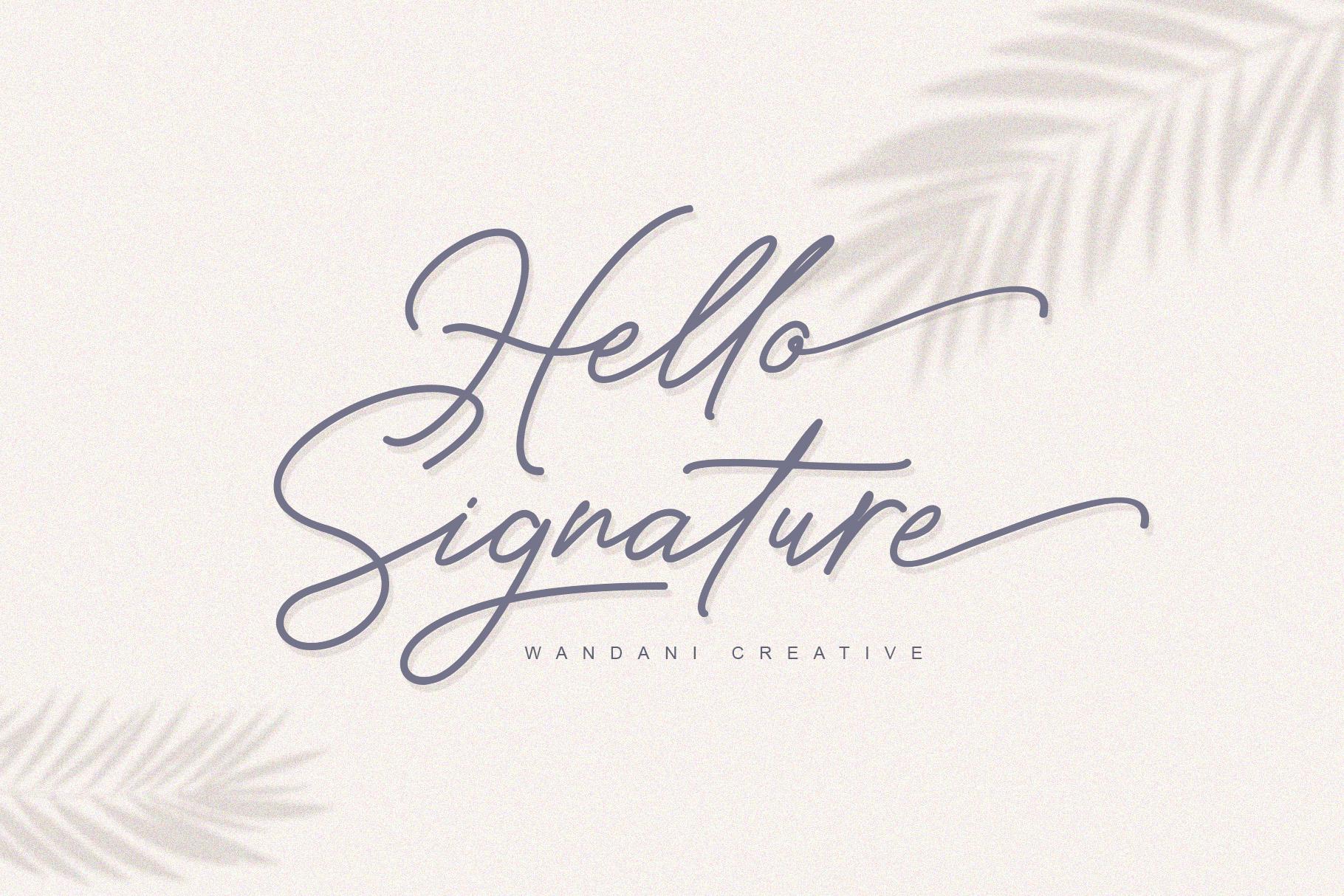 Hello Signature Font example image 1