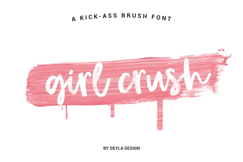 Bold modern brush font, Girl Crush example image 1